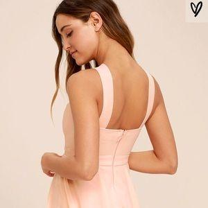 Lulu's Dresses - Lulu's Blush/Peach Skater Cocktail Dress